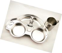 FINEX Children's Stainless Car Set with Divided Platter and