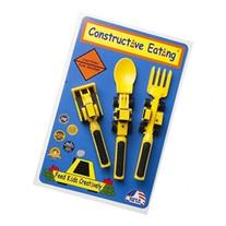 Constructive Eating 3 PC Children's Utensil Set Feed Kids