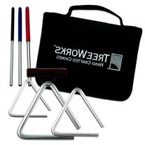 TreeWorks Chimes 3 Triangle Pack w/ Bag & Beaters