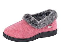 ACORN Women's Faux fur chinchilla Collar Slipper,Stone,XX-