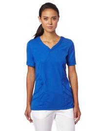 Urbane Women's Chloe Sweetheart Neck Scrub Tunic, Royal, 3X-