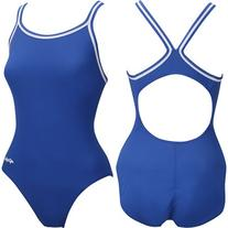 Dolfin Chloroban Team Solid Suit Womens - Royal 30
