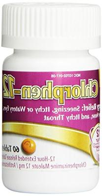 Chlorpheniramine Maleate  Extended Release, 12 Mg , 60