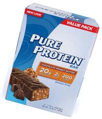 Pure Protein Chocolate Peanut Butter Value Pack Bars, 50g