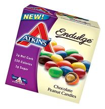 Atkins Chocolate Peanut Candies, 1.2oz Bags, 5 Count