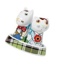Top Choice Hello Picnic Salt Dog and Pepper Cat, Multi-