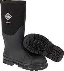 The Original MuckBoots Adult Chore Hi Boot Steel Toe,Black,
