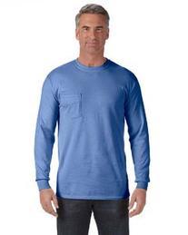 Comfort Colors C4410 Long-Sleeve Pocket T-Shirt - Chambray