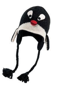 Nirvanna Designs CHPENG Penguin Hat with Fleece , Black, 5