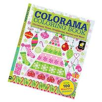 Christmas Colorama Coloring Book Trees Ornaments Santas &