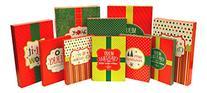 Christmas Holiday Multi Color Festive Gift Wrapping Shirt,