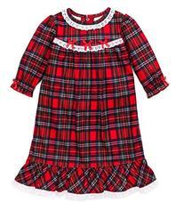 Girls Christmas Pajamas - Toddler Red Plaid Nightgown