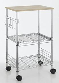 Chrome 3-Tier Wire Rolling Kitchen Cart Utility Food Service