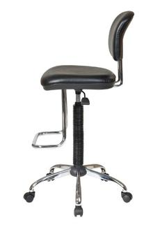 Office Star Pneumatic Drafting Chair with Vinyl Stool and