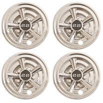 "4x 8"" Chrome Golf Cart Wheel Covers for EZGO, Club Car, +"