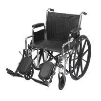 Drive Medical Chrome Sport Wheelchair with Various Arm