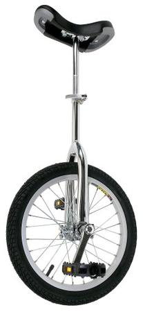 "Fun Chrome 16"" Unicycle with Alloy Rim"