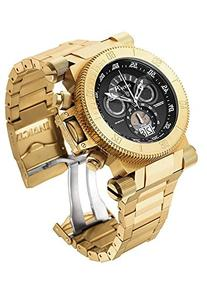 Invicta Men's 51mm Chronograph Gold Steel Bracelet & Case