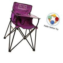 ciao baby - Portable High Chair with Rattle Teether Toy -