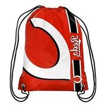 Cincinnati Reds Side Stripe Drawstring Backpack