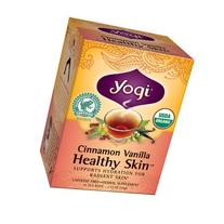 Yogi Cinnamon Vanilla Healthy Skin Herbal Supplement Tea