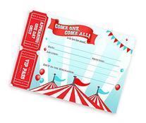 Circus LARGE Invitations - Carnival Invitations - 10