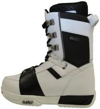 Celsius Men's Cirrus-Trad Lace Snowboard Boot, White/Black,