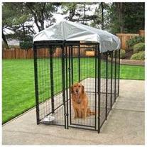 Jewett Cameron CL 60548 4x8 Uptown Welded Wire Dog Kennel