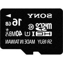 Sony 16GB Class 10 Micro SDHC R40 Memory Card