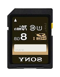 Sony 8GB Class 10 UHS-1 SDHC up to 70MB/s Memory Card
