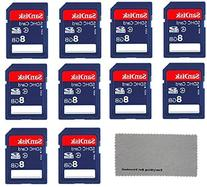 SanDisk 8 GB Class 4 SD Flash Memory Card - 10 Pack With