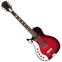 Silvertone Classic 1423-RSFB Solid-Body Electric Guitar, Red
