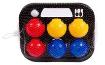 TOOLTOWN Classic Bocce Balls Set, Red/Blue/Yellow/White