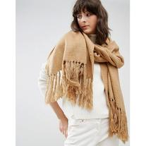 Pieces Classic Camel Scarf