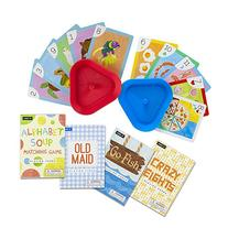 Set of 4 Classic Children's Card Games with 2 Hands-Free