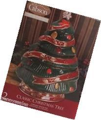 Classic Ceramic Christmas Tree Snack Jar