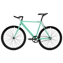 Retrospec Critical Cycles Classic Fixed-Gear Single-Speed Bike with Pursuit Bullhorn Bars, 60cm/X-Large, Celeste