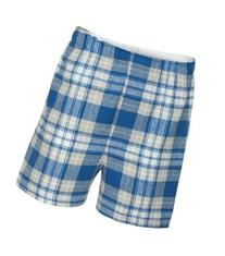 Boxercraft Adult Classic Flannel Boxers - Royal/Silver