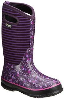 Bogs Classic Flower Stripe Waterproof Insulated Rain Boot ,