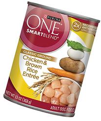 Purina One Classic Ground Chicken Brown Rice Entree Canned