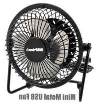 """iMBAPrice® Classic Hi Speed 4"""" USB Mini Desktop Metal Fan"""