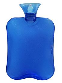 Attmu Classic Rubber Transparent Hot Water Bottle, Blue