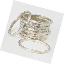 Classic Silver Stacking Rings