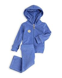Juicy Couture Girls 2 Pc Classic Terry Hoodie & Pant Jog
