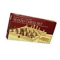 John N. Hansen Classic Wood Folding Chess Set