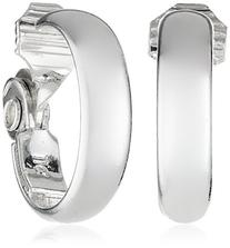Anne Klein Classics Silver-Tone Medium Hoop Clip-On Earrings
