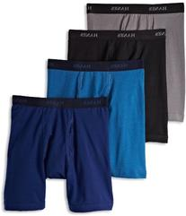 Hanes Men's 4 Pack Ultimate Stretch Long Leg Boxer Brief -