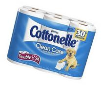 Cottonelle Clean Care with Soft Ripples Bath Tissue Double