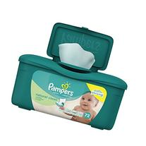 Pampers Baby Wipes Natural Clean  Tub - 72 Count