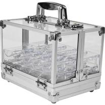 Trademark Poker 600 Pc Clear Acrylic Case with 6 100 Pc Chip